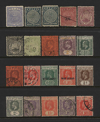 Fiji Collection 20 Early Stamps Used / Unused Mounted