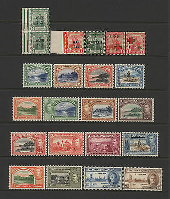 Trinidad & Tobago Collection 22 Early - KGVI Stamps Mounted Mint