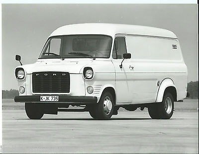 Ford Transit 1975 Original Black White Press Photograph Diesel + Notes
