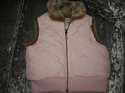 Floriane  Girls Pink   Faux Fur Lined Gilet/bodywarmer, Age 5,g.c