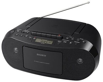 Sony CFDS50 PORTABLE CD PLAYER STEREO MEGA BASS BOOMBOX AM FM RADIO MP3 - AUX In