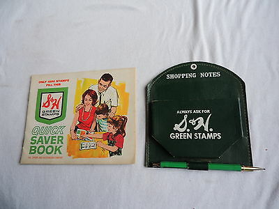 Vintage S&H Green Stamps Coupon Organizer & Unused Book (a035)