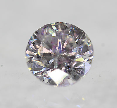 Certified 0.66 Carat D SI2 Round Brilliant Enhanced Natural Loose Diamond 5.34mm