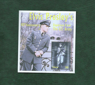 Liberia Elvis Presley leaving the army minisheet MNH