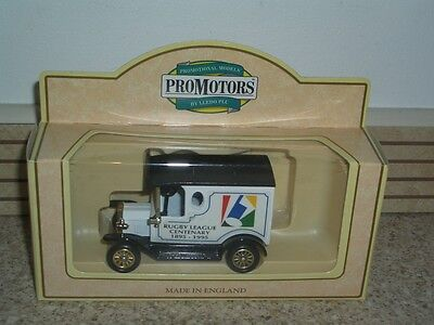 LLEDO MODEL VAN COMMEMORATING RUGBY LEAGUE CENTENARY 1895-1995, BOXED WITH CoA
