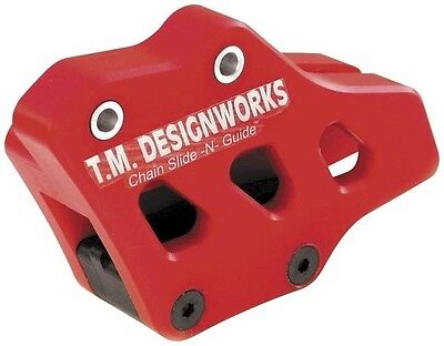 T.M. Designworks Red Factory Edition 1 Chain Guide for Yamaha YZ250F 2001-2006
