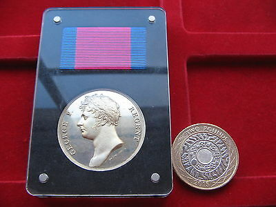 Battle of Waterloo Sterling Silver Medal 1815-2015 200th Anniversary RRP £72.50