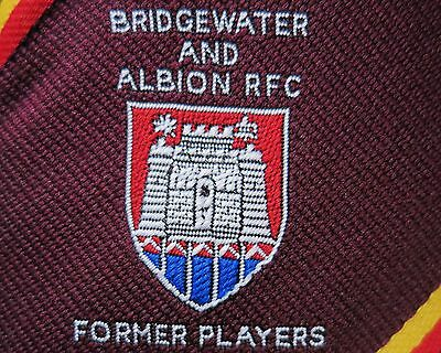 Bridgewater and Albion RFC Former Players Nuclear Electric Tie UNWORN