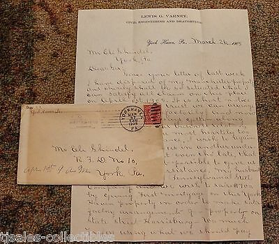 1905 Letter Verney to Shindel Pennsylvania Steel Company $1700 Mortgage and Rent