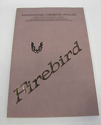 1979 Firebird Trans Am Owners Manual Operating Instructions