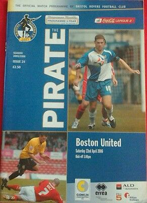 BRISTOL ROVERS v BOSTON UNITED.  2Q/4/2006