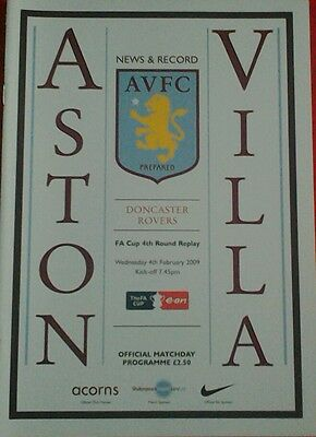 ASTON VILLA v DONCASTER ROVERS. FA Cup 4th Round Replay.  4/2/2009