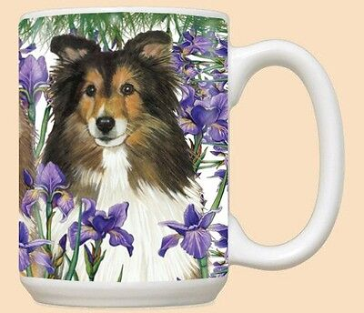 15 oz. Ceramic Mug (PS) - Shetland Sheepdog Sheltie MU524