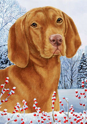 Large Indoor/Outdoor Winter Flag - Vizsla 15052