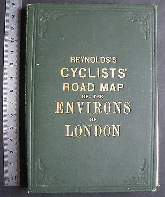 Vintage Reynold's Folding Pocket Map Cycling Cyclist Bicycle