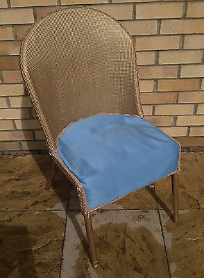 1950's * CANE SPRUNG UPHOLSTERED * DRESSING / FEATURE CHAIR * GOLD SHABBY CHIC