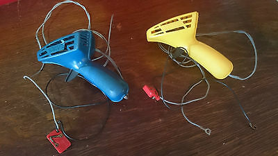Vintage Scalextric * Hand Held Speed Controllers (Pair) * With Wires/plugs *