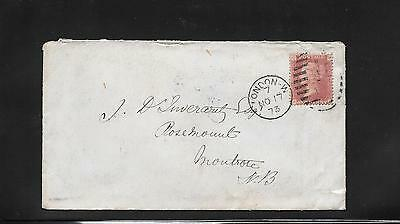 QV - 1d red (plate 149) on cover pmk London to Montrose 1873