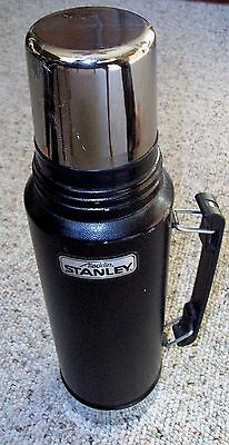 Aladdin Stanley A-944DH Thermos Matte Black 1 QT Very Good Condition 1996