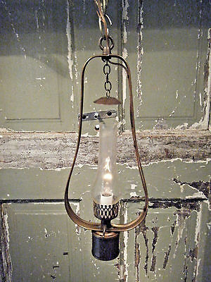 Brass Light Fixture Hanging Antique Kerosene Coal Oil Gas Lantern 17th Century
