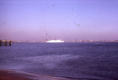 35mm SLIDE :  MARITIME :  UNKNOWN CRUISE LINER IN DISTANT SHOT 1965