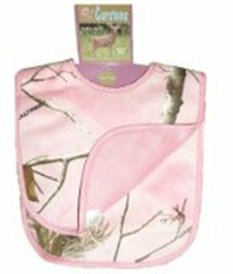 Carstens Super Soft Pink Camouflage Baby Bib Pack of 2 Realtree APC NWT