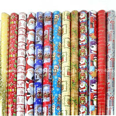 4 x 10M Christmas Wrapping Paper Gift Wrap Roll Assorted Random Xmas
