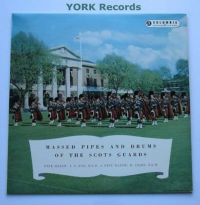 MASSED PIPES & DRUMS OF THE SCOTS GUARDS - Ex Con LP Record Columbia 33CX 1152