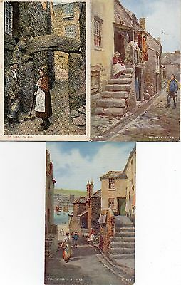 3 Old Postcards St Ives Cornwall Digey,fish St, Old Arch 1 Posted 1904