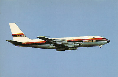Dennis Postcard - Boeing 707 - G-Avzz Of Caribbean Air
