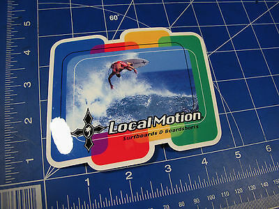 vtg 90's to 2000's Local Motion Surfboards Surf sticker rainbow photo