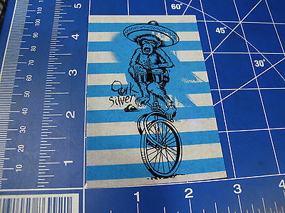 new* Quiksilver Surf sticker circus monkey