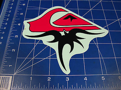 vtg RARE* 80's 90's Quiksilver Surf sticker red logo and waveforms LG