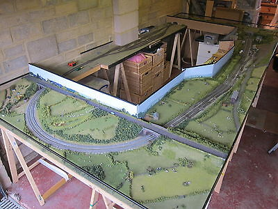 N Gauge Exhibition Standard Model Railway Layout 186x392cm Marston Magna