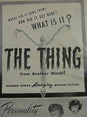 The Thing From Another World, Vintage Promotional Ad, Howard Hawks