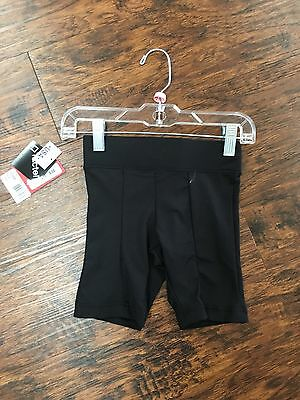 NEW 10360 Capezio Black Boys and Men Black Fitted Dance Shorts