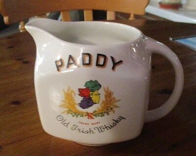 Vintage Paddy Old Irish Whisky Jug / Pitcher - BY ARKLOW