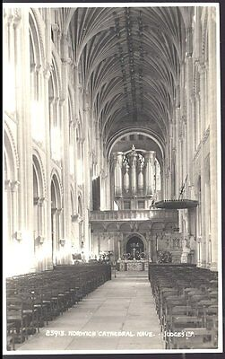 Vintage Pc- Norwich Cathedral Nave 25913 By  Judges