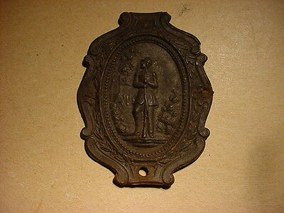 Civil War Era Equipment Plate/Badge, Stamped Tin