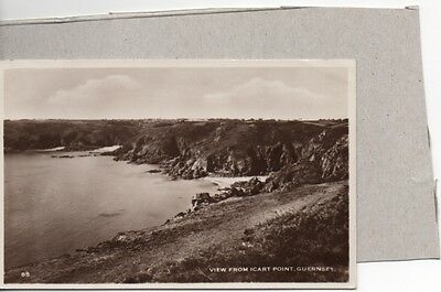 Old Real Photo Postcard Guernsey View From Icart Point