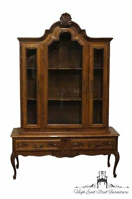 Antique Country French Louis XVI 53″ China / Display Cabinet Vitrine
