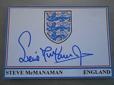 STEVE McMANAMAN HAND SIGNED ENGLAND CARD & COA *EXCELLENT CONDITION*