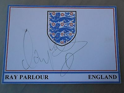 Ray Parlour Hand Signed England Card & Coa *excellent Condition*