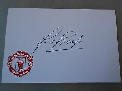 Frank Stapleton Hand Signed Manchester Utd Card & Coa *excellent Condition*