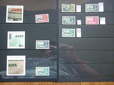 HAGNERS of 1935 JUBILEE STAMPS with IDENTIFIED FLAWS  - 9 Photos - FREE POSTAGE