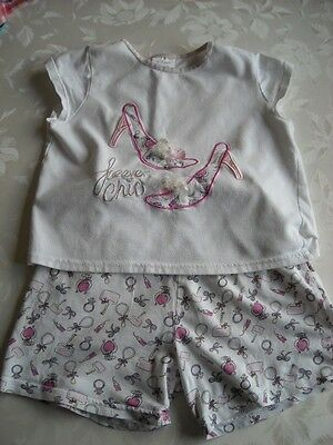 """""""Gloss"""" Cotton T-Shirt and Shorts Set Age 6-7 years (Height up to 122cm)"""