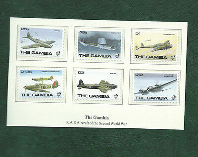 The Gambia RAF Aircraft of the second world war set MNH