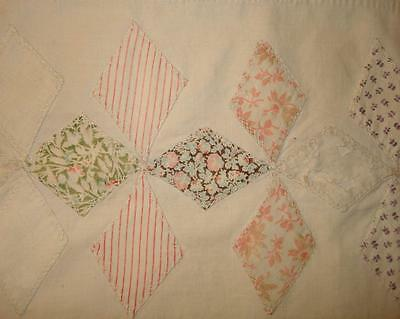 LOVELY PIECE GENTLY FADED 19th CENTURY APPLIQUÉ PATCHWORK QUILT, PROJECTS 2.