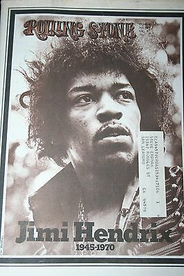 Rolling Stone Magazine- Jimi Hendrix death Oct 15 1970 #68 Excellent Cond NICE!