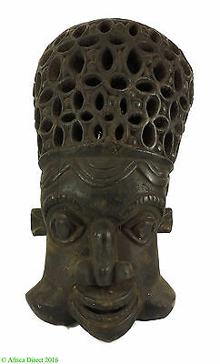 Bamun Helmet Mask Lattice Headpiece Cameroon African Art